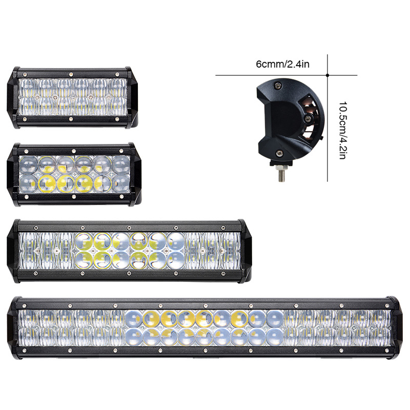 7 12 20 inch 5D Offroad LED Light Bar Flood Spot Combo Beam LED Work Light For JEEP UAZ 4x4 ATV SUV 4WD Motorcycle Headlight