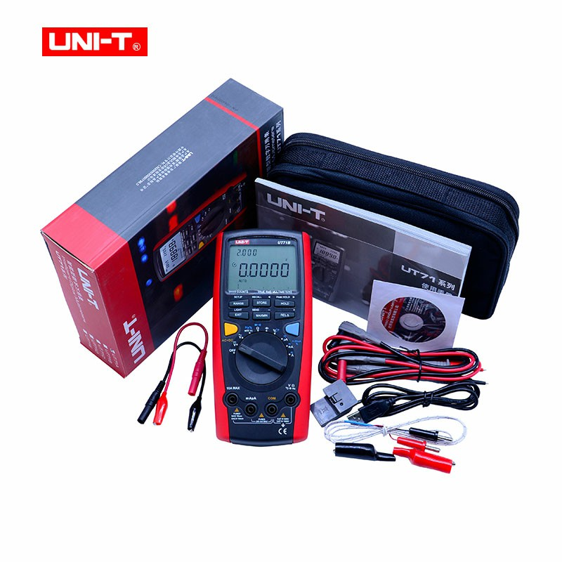 UNI-T UT71B LCD Digital Multimeter Volt Amp Ohm Temp Capacitance Inductance USB Interface Double Backlight 100 Data Logging uni t ut70b lcd digital multimeter volt amp ohm temp capacitance tester
