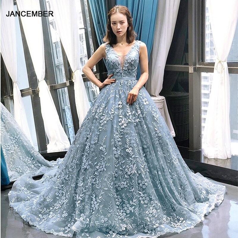J66729 Jancember Evening Gown For Girls Sleeveless Lace Up Floor Length Pattern Formal Dresses Women Elegant платья вечерние