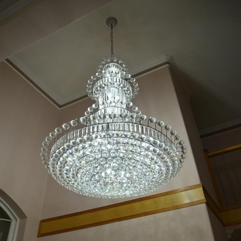 100 cm Luxus Große Europa Große Gold Glanz Kristall Kronleuchter - Innenbeleuchtung - Foto 4