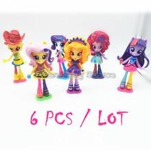 6pcs/lot Girls monster doll High toy Elves action Figure Fashion brinquedos Decoration kids toys Children Gift