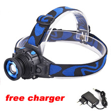 Zoomable Headlight 2000 Lumen CREE XML Q5 Rechargeable Headlamp LED Headlight Zoom LED Head Light Lamp for Cycling