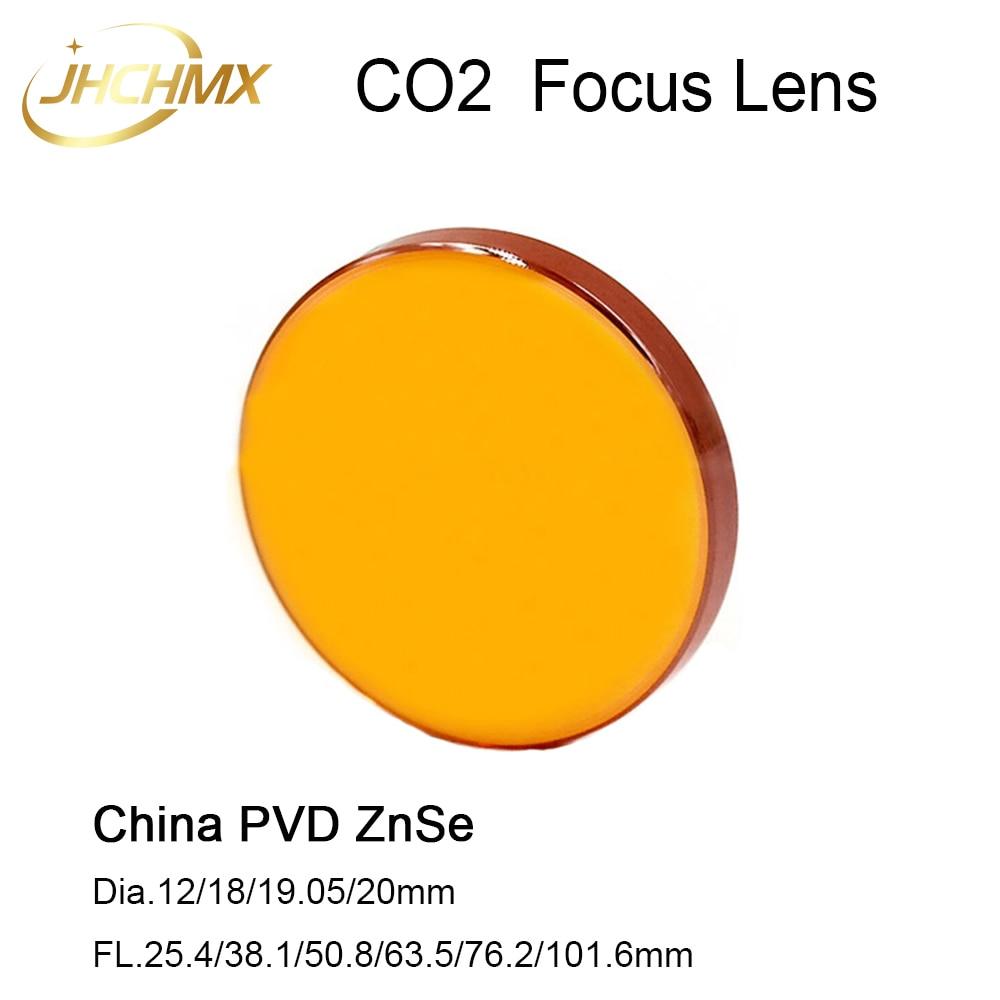 JHCHMX CO2 Laser Fokus Objektiv China PVD ZnSe Objektiv Dia.12/18/19,05/20mm FL.25.4/38,1 /50,8/63,5/76,2/101,6/127mm 1,5-5 zoll