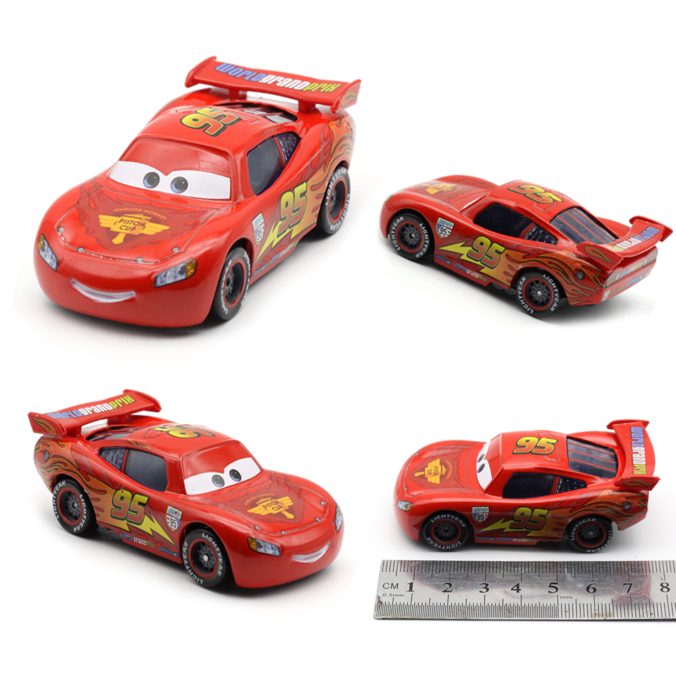 Disney Pixar Cars 2 Lighting McQueen Police Version 1:55 Scale Diecast Metal Alloy Car Model New Year 2018 Gift For Boys Kids