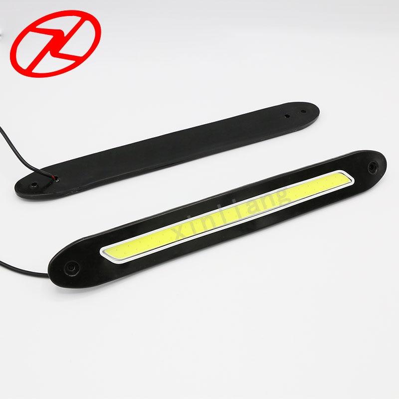 2 PCS fleksibel dipimpin daytime running lights 12 V COB 6000 K Putih - Lampu mobil - Foto 4