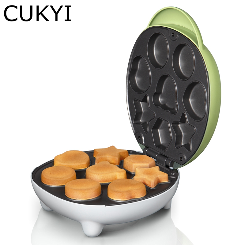CUKYI Electric Cake Maker Muitifunctional Donuts Machine Household Breakfast Mini Toastor Bubble Waffle Maker Food Processor cukyi seven ring household electric taolu shaped anti electromagnetic ultra thin desktop light waves