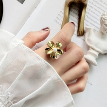 Freshwater Pearl Natural Rings for Women Gold Color 925 Sterling Silver Ring Female Flower Ring Silver 925 Trendy Fine Jewelry