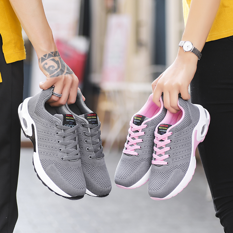 Spring Autumn Woman Running Sneakers Woman Breathable Grid Athletic Walking Outdoor Air Cushion Couple Adult Sneakers