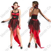 Girls Carnival Dancer Long Dresses Women Sexy Red Vampire Queen Cosplay Costume Halloween Party Fancy Dress