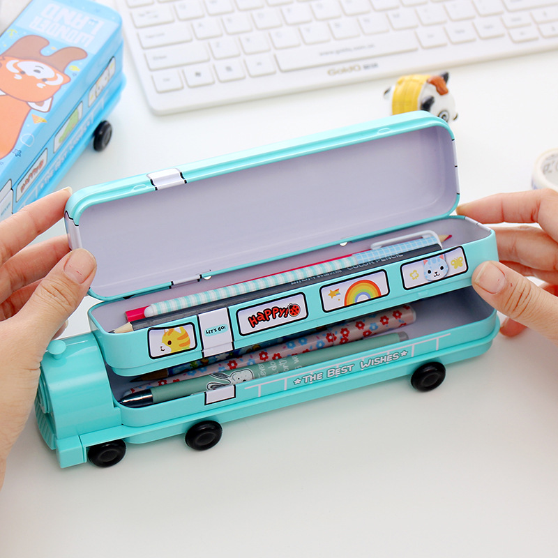 MEIKENG Multifunctional Pencil Case With Pencil Sharpener Creative Mini Train Metal Pencil Box School Student Supplies Kids Gift-in Pencil Cases from Office ... & MEIKENG Multifunctional Pencil Case With Pencil Sharpener Creative ... Aboutintivar.Com
