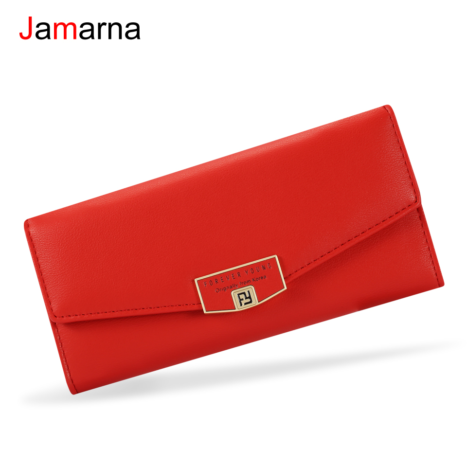 Jamarna Women Wallets PU Leather Women Wallets High Capacity Wallet Female Coin Purse Card Holder Women Wallets For Mobiles jamarna wallet female tassel design pu leather women wallets with zipper coin purse women credit card holder small wallet