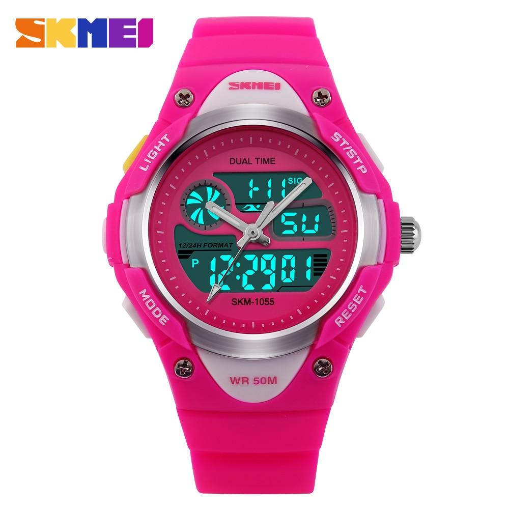 SKMEI Waterproof Children Watches Dual Display Quartz Digital 50m Swim Fashion Casual Children Boys Girls Wrist watch все цены