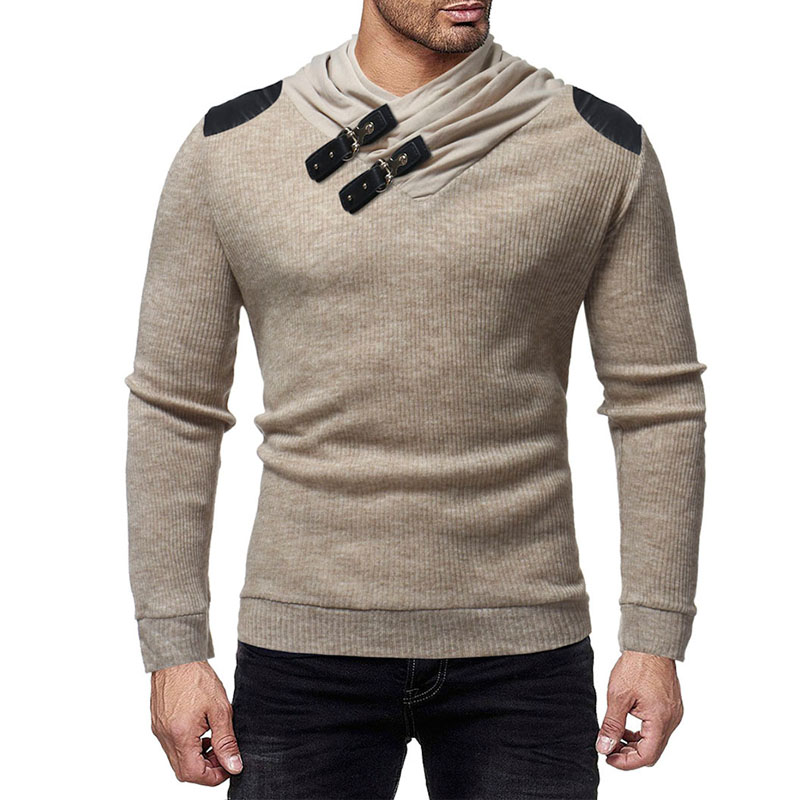 Winter Pullover Men 2018 New Brand Patchwrok Neck Line Sweaters Men Autumn Slim Fit Knitted Men Christmas Sweaters M-3XL
