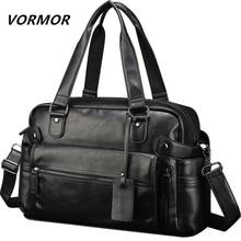 VORMOR из искусственной кожи Сумка Бизнес сумки знаменитых дизайнеров Для мужчин Сумки Для мужчин; дорожные сумки ноутбук Портфели сумка для человека