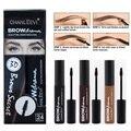 Nova Marca Hot Make Up Eye Brow Matiz Cosméticos Gel Potenciador Sobrancelha Sobrancelhas de Henna Rímel À Prova D' Água Kit de Maquiagem