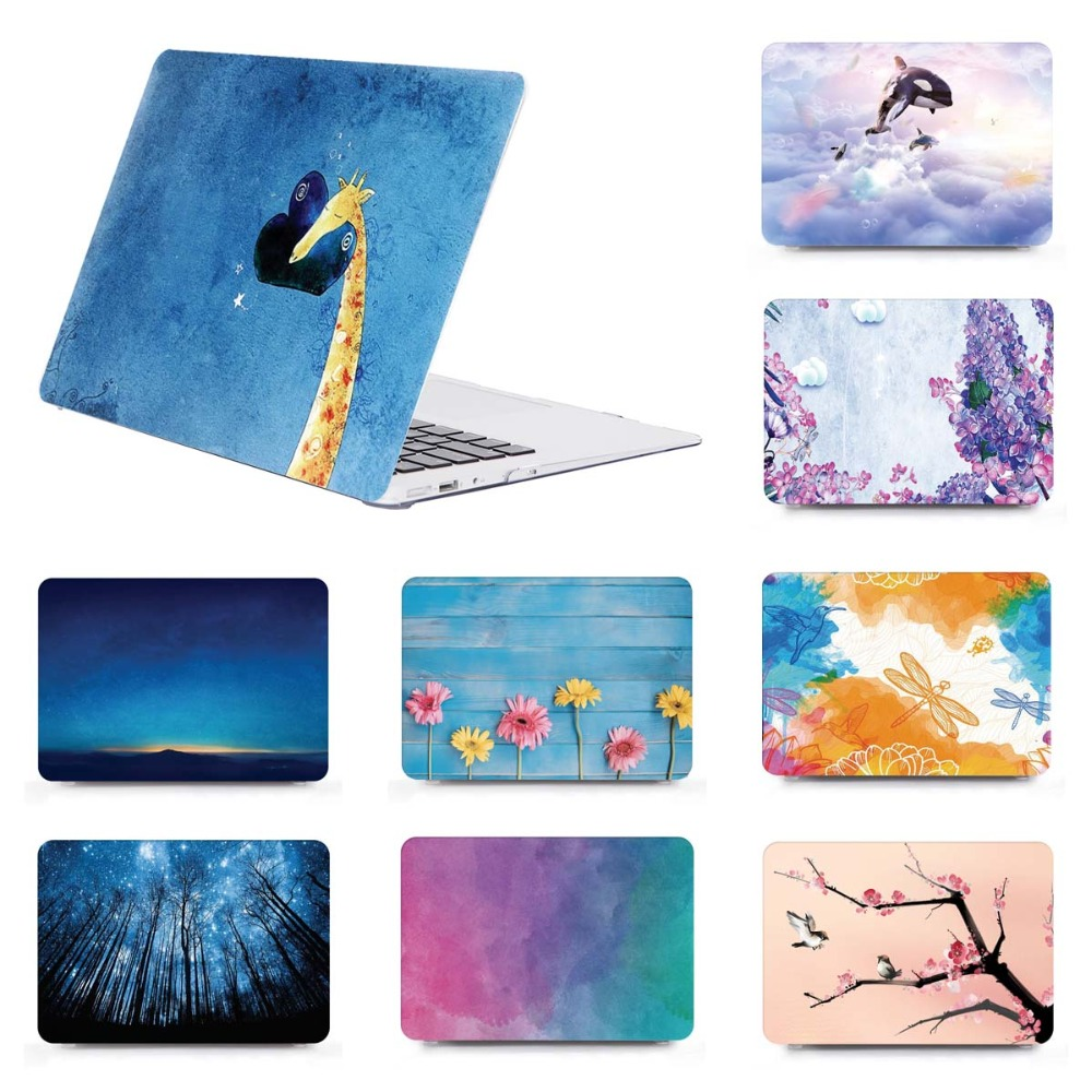 Hard shell Laptop Case+Keyboard Cover For Shell Case 11 12 13 15Apple MacBook Pro Air A1466 A1932 2018