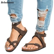 564b7ff1b9aa6 New ankles strap woman roma sandals summer casual flats flip flop beach  shoes open toe platform women sandals gladiator big size