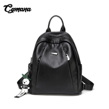 CGMANA Backpacks Women 2018 Large-Capacity Soft Leather Anti-Theft Laptop Fashion Travel Mochilas