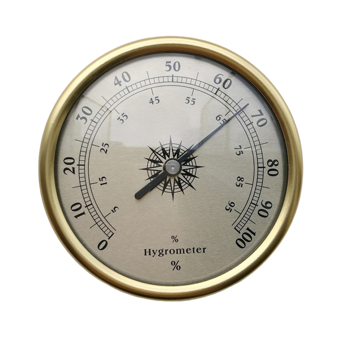 1PCS 7.2cm Gold Ring Surface Hygrometer Instrumentation Thermometer