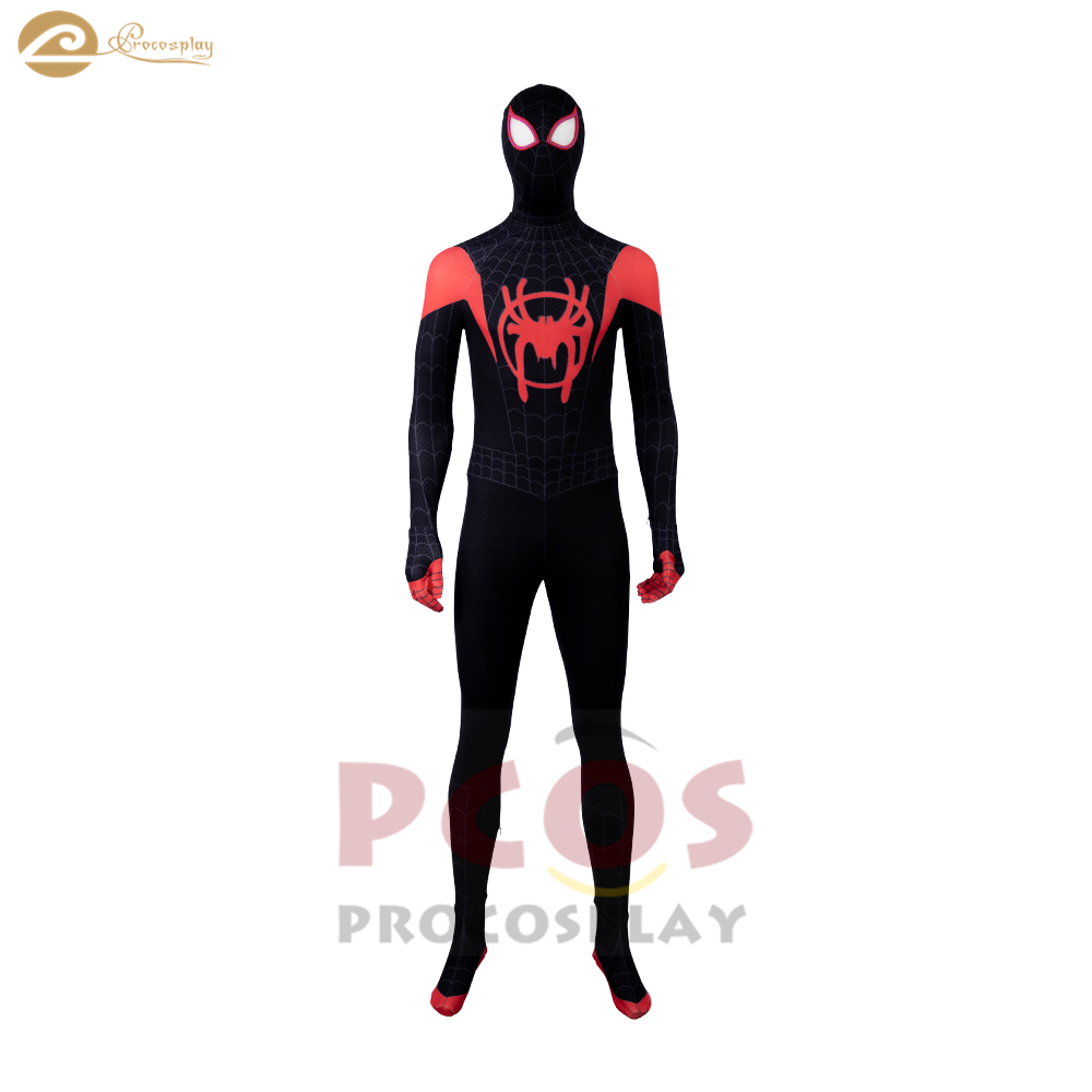 Spider-Man: Into the Spider-Verse spiderman Spandex, latex cosplay cosyume Miles Morales spiderman cosplay costume mp004233