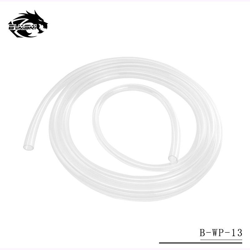 Bykski 9.5mm diâmetro interno + 12.7mm diâmetro exterior tubo de flessibile/tubo de silicone do plutônio/tubos de mangueira de água transparente 1 meter/pcs