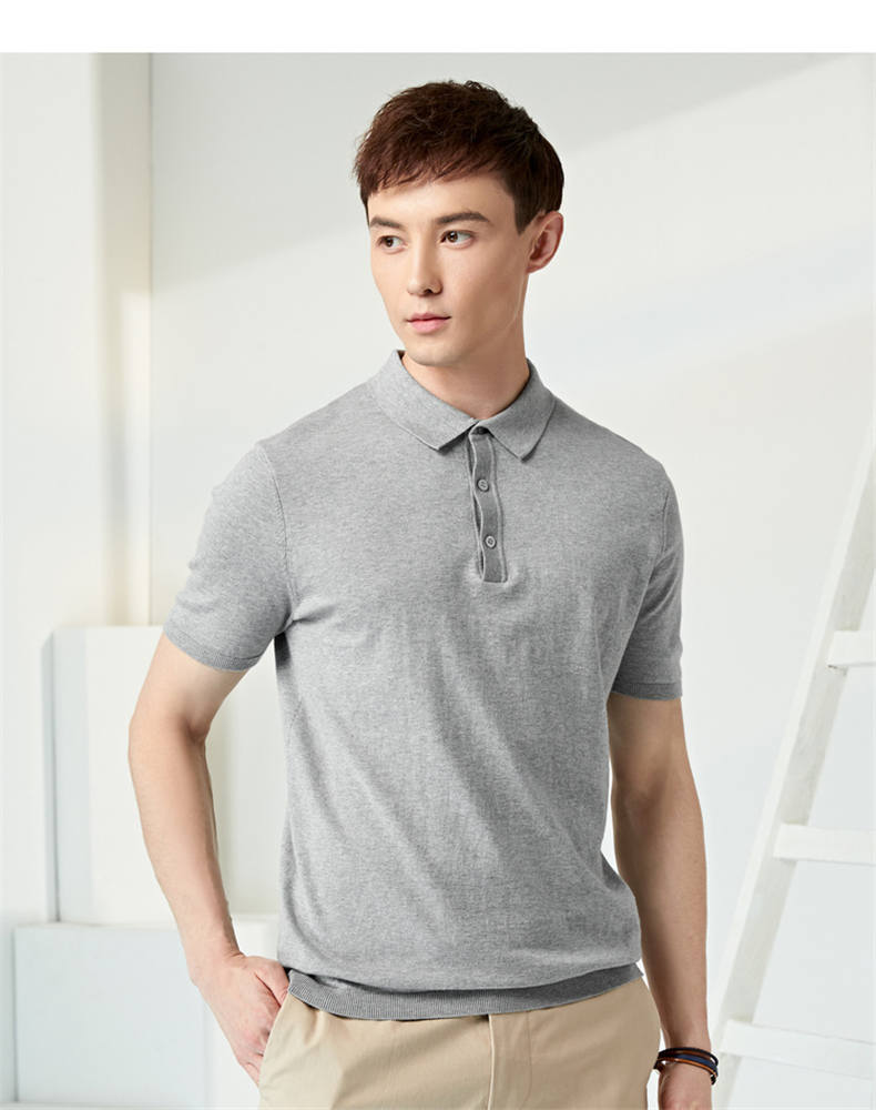 13Colors Summer Polos Men Sweater Quality Combed Cotton Knitted Short Male Tees Top Pullover Large Plus Size 4XL Muls Brand 04