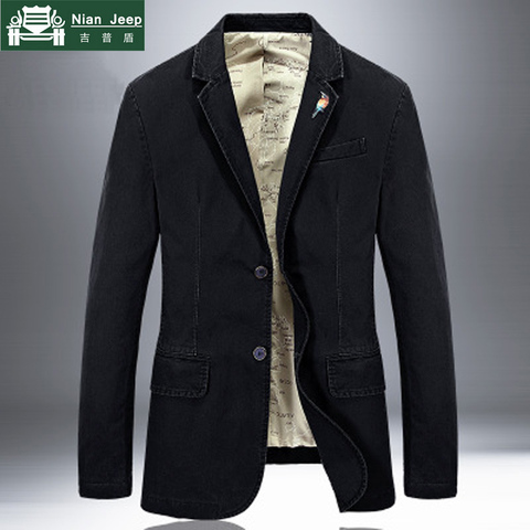 2018 New Brand Jacket Men Blazer Jacket Coat Pure Cotton Fabric Luxury Fashion Casaco Masculino Removable Brooch 5 Colors S-4XL Pakistan
