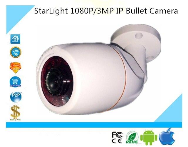StarLight FishEye Panorama 180 Degrees IP Bullet Camera Low illumination 1080P 3MP Sony 291 3516C 3516E