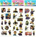TV series figura de dibujos animados etiqueta de seguridad 5 Unids Itfaiyeci al por mayor Fireman Sam Fireman Sam impresión de etiqueta de seguridad
