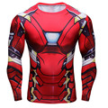 Iron Man 3D Printed T-shirts Captain America Civil War Tee Long Sleeve Compression Shirt Cosplay Costume Clothing Tops Male
