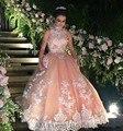 Luxo 2017 Vestido Quinceanera vestido de Baile de Tule Laço Longo Doce 16 Vestidos de Festa barato Vestido De 15 Años Plus Size Real Fotos