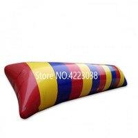 送料無料 6 × 3 メートルインフレータブル水ブロブジャンプ枕ブロブカタパルトインフレータブルジャンプ枕水トランポリンでポンプ