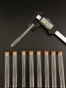 Image 4 - 400pcs 12x100mm Clear Plastic test tubes with corks Plastic laboratory test round tube plug lab Transparent plastic tubes vial