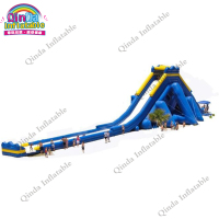 Huge water slide inflatable,inflatable giant water slide,beach large water slide for sale