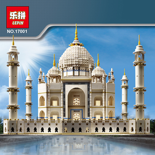 LEPIN 17001 17008 5952pcs The taj mahal Model Building Kits Brick classic house Architecture Toys for children 10189 Gift toys hsanhe street architecture series lepin city house bank model building kits brick blocks educational toys for children friends
