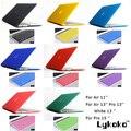 Frete grátis 15 cores 2em1 Matte Hard Case + tampa do teclado para Air 11 13 / Pro 13 15 + Retina / branco 13 polegada