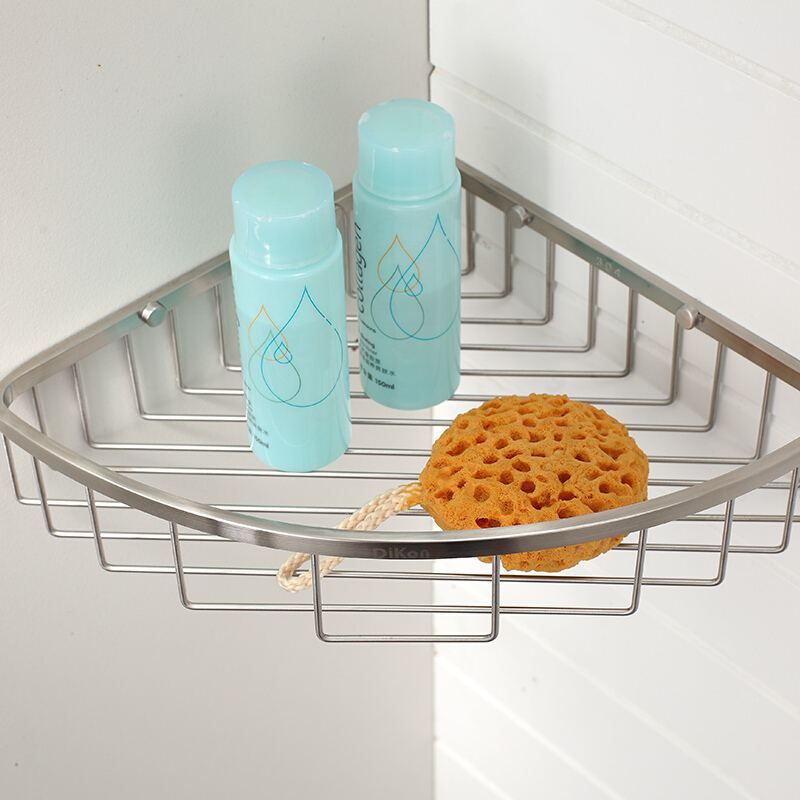 Dikon Single Corner Angle Basket Shelves Gl16 Bathroom Shelf 304 Stainless Steel Brushed Surface Accessories In From Home