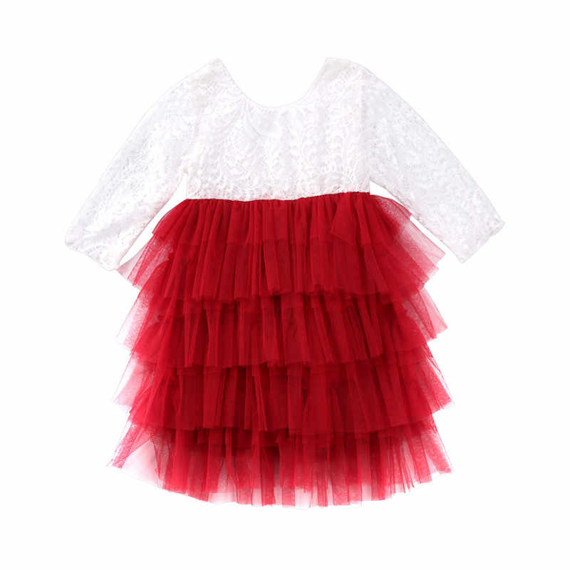 6d24b743b4 Hot Kid Baby Girl Lace Long Sleeve Ball Gown Summer Dress Party Pageant  Formal Dress Layer