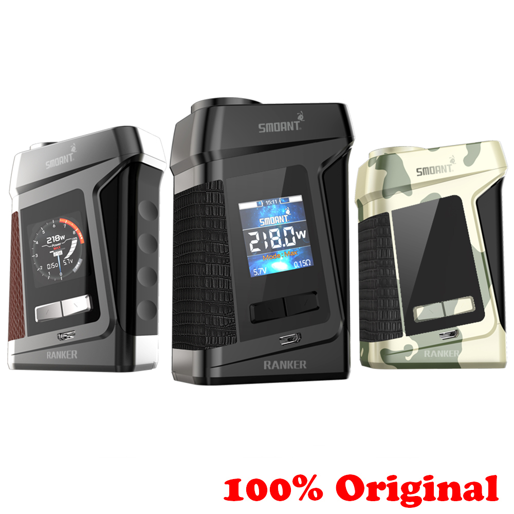 Original Smoant Battlestar Mini 80W TC Box MOD With 80W Max Output 0.96 Inch Big LED Screen E Cig Vape Mod Electronic Cigarette