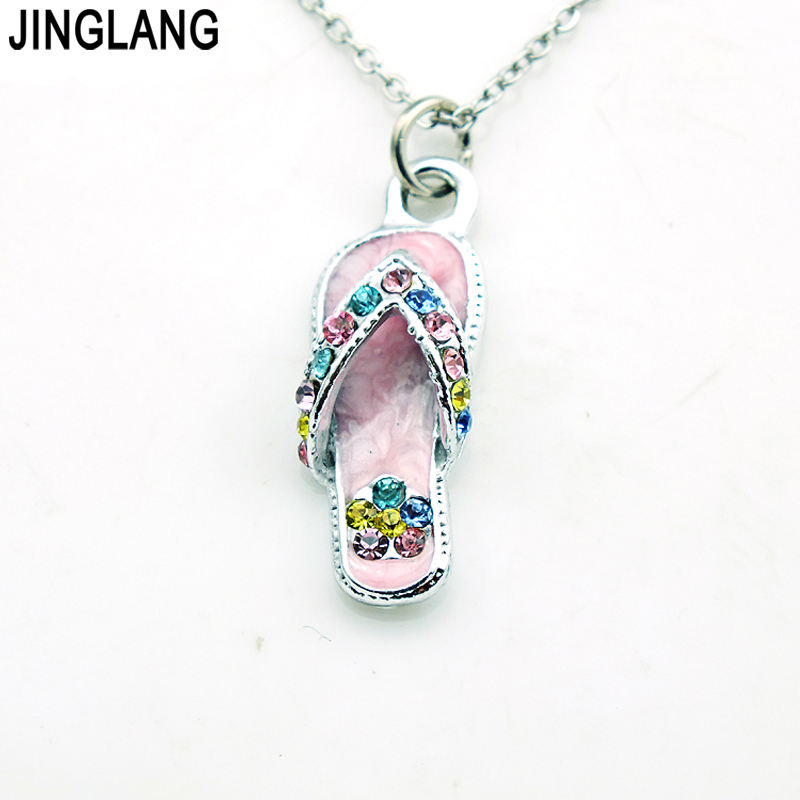 Buy slipper pendant necklace and get free shipping on aliexpress mozeypictures Images