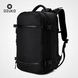 OZUKO Nieuwe Mannen Rugzak voor 15 17 Laptop Rugzakken Waterafstotend Multifunctionele Tas USB Opladen Rugzak Grote mochila