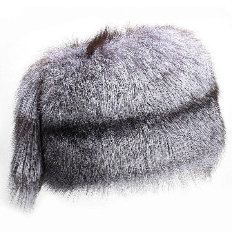 2019 New Genuine Women winter warm real fox fur hat russian fur aviator skihats fashion adult Bomber Hats H625-03