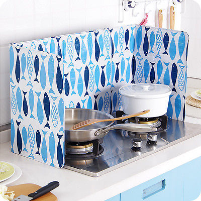 cooking plate stove kitchen grease Oil splash baffle Anti Splatter ...