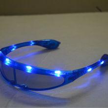 Светодиодные очки, мигающий светодиодный космический свет, солнцезащитные очки, светящиеся, вечерние, Клубные, диско, подарок, игрушка, синий