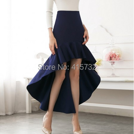 Free Shipping 2018 New Fashion Customized Long Maxi Mermaid Style Fish Tail Skirt For Women Skirt Spring And Autumn High Low XXL