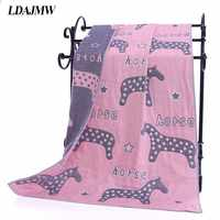 Dropshipping Cotton Gauze Adult Cartoon Bath Towel Textile Large Thick Towel Hotel Bathrobe Beach Towel Shawl Children Blanket