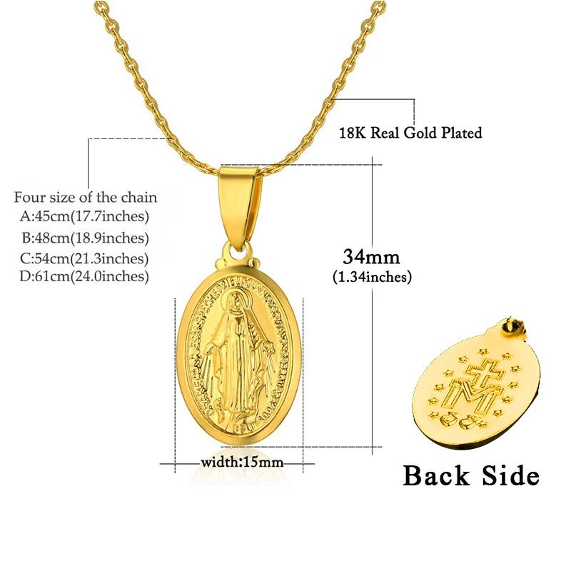 Vjerski nakit Privjesci Virgin Mary 2018 Privjesci za žene Christian - Modni nakit - Foto 2
