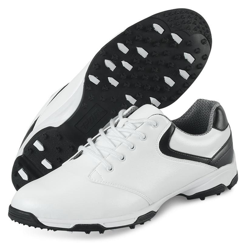 2017 Men's Golf Shoe Sport Shoes Men Ultra Light Elastic EVA Breathable Waterproof (Black) adidas men s puremotion golf shoe