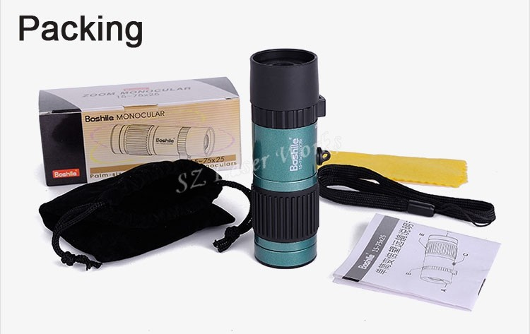 Original Boshile travel binoculars 15-75x25 HD Flexible focus High Power Mini Monocular Zoom Telescope For Camping Free Shipping 28