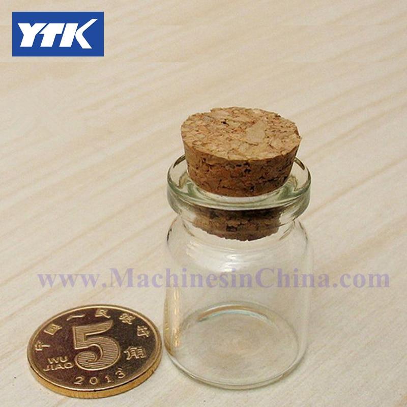 100pcs 3ml Transparent Glass Bottles with cork stopper